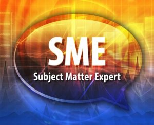 Speech bubble illustration of Subject Matter Expert Acronym