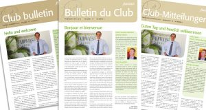 Trilingual brochures: English, French and German