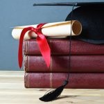 Grad mortarboard and scroll_ml