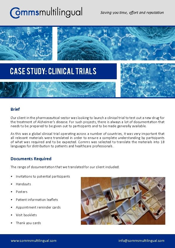 Clinical Trials Case Study PDF